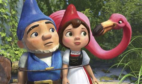 Gnomeo and Juliet and Flamingos