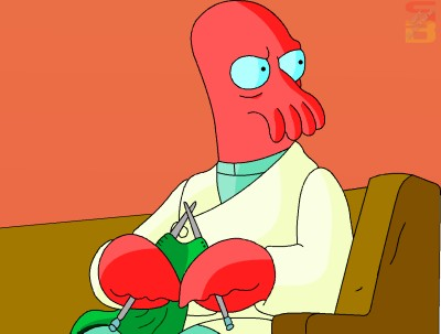 zoidberg knitting